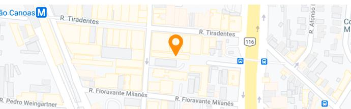 Mapa da localidade da clínica em Canoas