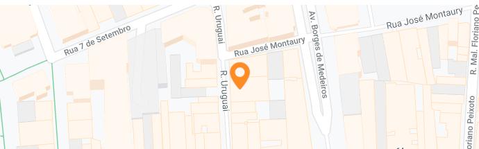 Mapa da localidade da clínica em Porto Alegre